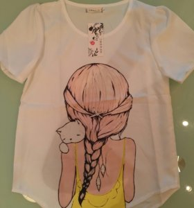 Новая блуза топ футболка легкая 44 р-р