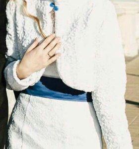 Болеро накидка шубка свадебная