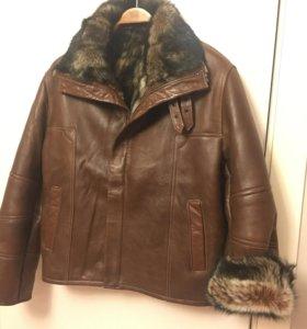 Куртка зимняя мужская кожа-мех