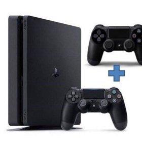 PS4 Slim 500g +2 джойстика +Battlefront