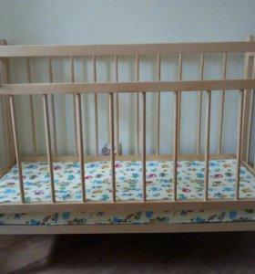 Кровать детская на колесиках
