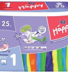 Подгузники happy от 2 до 5 кг