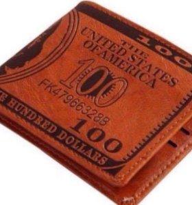Новый Мужской Кошелёк с Долларом