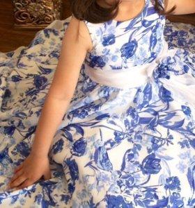 Платье детское (шифон ) очень нарядное и красивое!