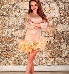 Платье бежевое новое