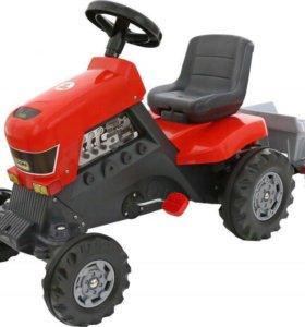 """Каталках-трактор с педалями """"Turbo"""" с прицепом"""