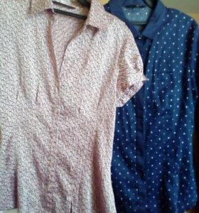Продам рубашку ostin розовую