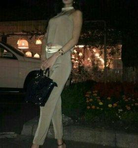Песочный костюм, сумка