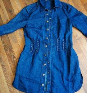 Джинсовая рубашка Visavis