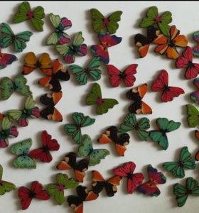 Набор бабочек для декора дерево дизайн 1