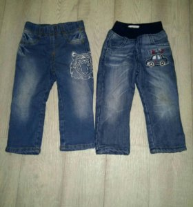 Детские утепленные джинсы б/у