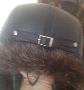 Куртка н.кожа н.мех,шапка н.кожа н.мех