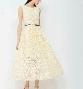 Платье Charuel из органзы светло-желтого цвета