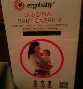 слинг-рюкзак ergo baby carrier + накладки на ремни
