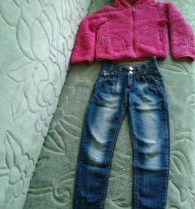 Толстовка + джинсы для девочки