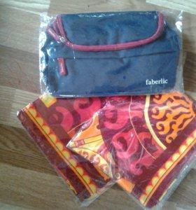 Косметичка, платки сумка фаберлик