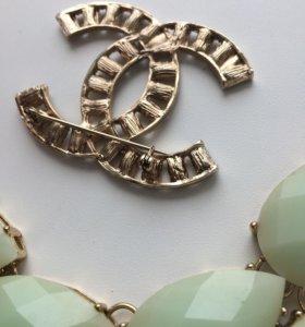 Ожерелье +брошь