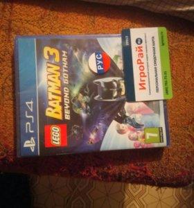 Диск Бэтмен 3. Лего. На PS4