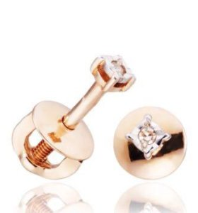 Золотые с бриллиантами