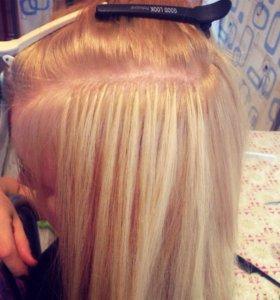 Наращивание волос капсуляция срезов