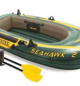 Лодка INTEX SeaHawk 2 Set