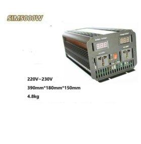 Инвертор преобразователь из 12V в 220V 5000 vatt