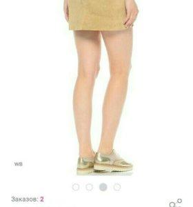 Замшевая юбка Италия новая