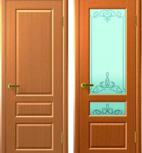Двери. Массив сосны. Комплект