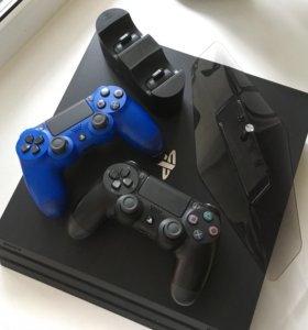 Sony PlayStation 4 Pro 1TB (PS4 Pro) + 2 геймпада