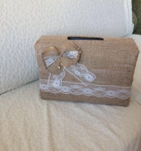 Свадебная коробка для денег ( в стиле Рустик )