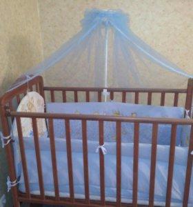 Детская кроватка -качалка