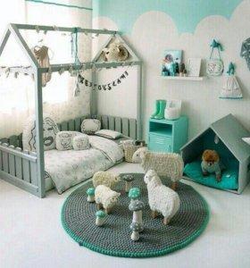 Кровать-домик. Детская мебель.