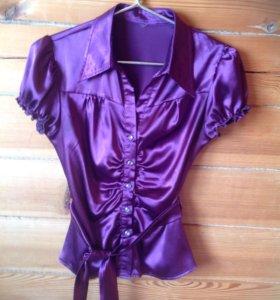 Рубашка женская фиолетовая