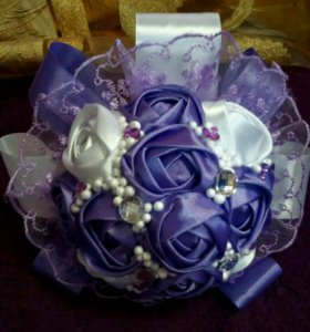 Букет дублер на свадьбу в сиреневом цвете