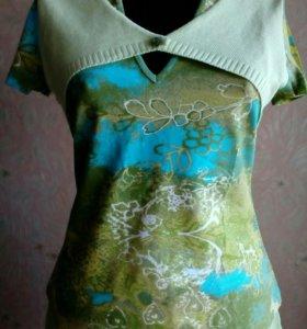 Блузка трикотажная новая М