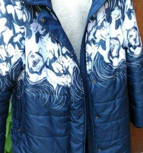 Зимняя куртка для беременных 48р.