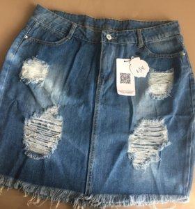 Джинсовая юбка 48-50 размер