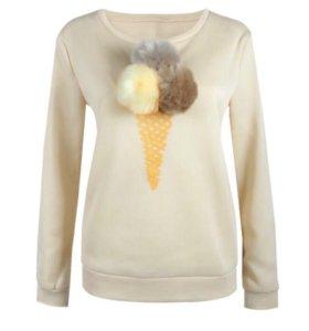 Женская толстовка мороженое 44-46 р.