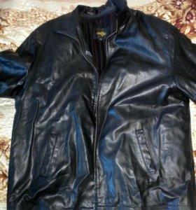 Кожанная куртка большого размера