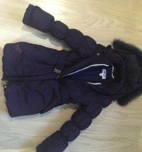 Зимний костюм для девочки 134-140
