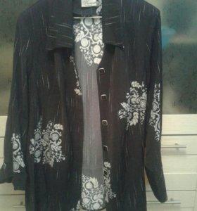 Тонкий пиджак 60 р-р