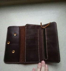 Кожаный кошелёк (handmade)