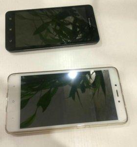 2 смартфона Xiaomi и Lenovo