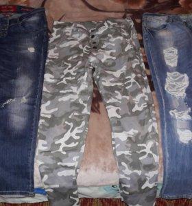 Джинсы и брюки 46 размер за все 2000