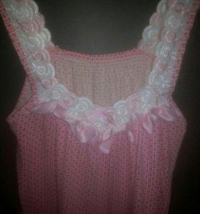 Ночная женская рубашка+топ