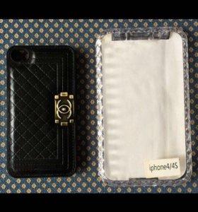 Новый кожаный чехол на iPhone 4/4S