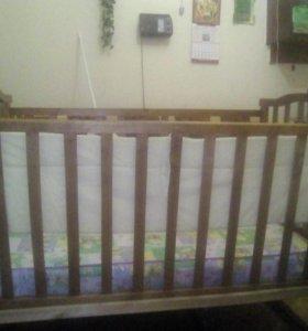 , детская кровать качалка