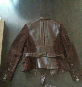 Кожано-замшевая куртка