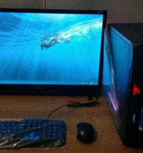 Компьютер новый игровой с монитором 28 дюймов