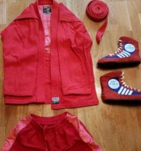 Форма для самбо куртка,шорты,самбовки.